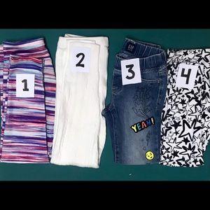 4 PAIRS OF GIRLS PANTS